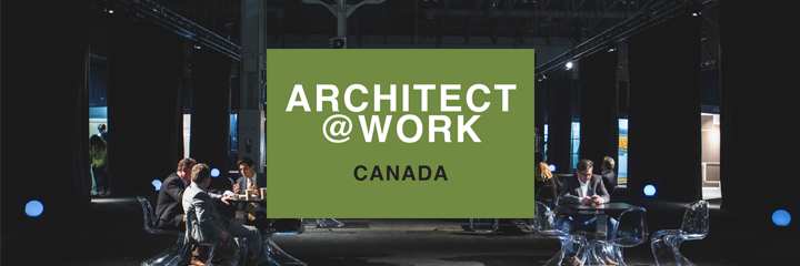 Header image of Architect@Work's logo overlayed over a photograph of the 2017 conference